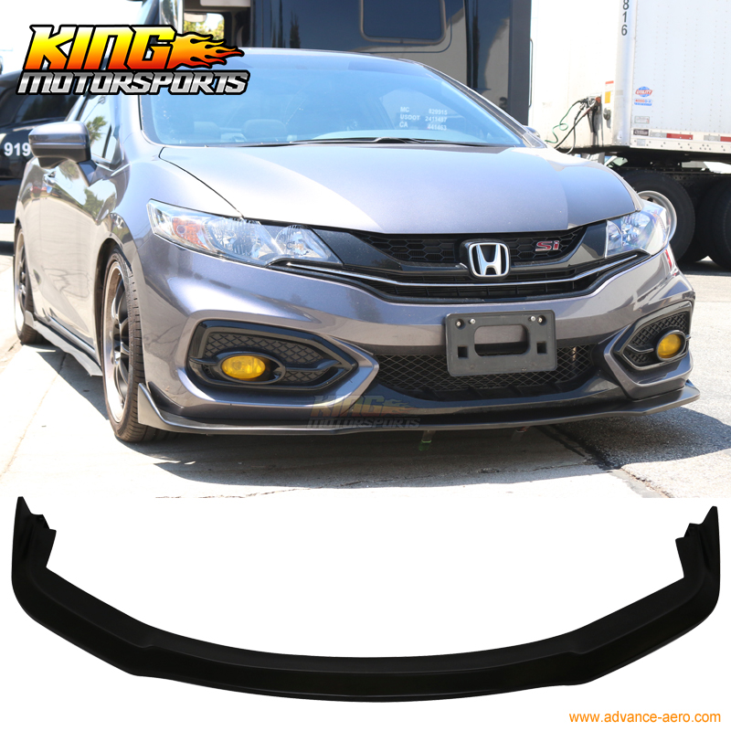Fits 12-13 Honda Civic HF-P Style Rear Bumper Lip Splitters Unpainted PU