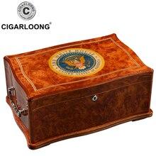 CIGARLOONG Cigar Moisturizing Box Cedar Large Capacity Cabinet Humidor Case HH-9001