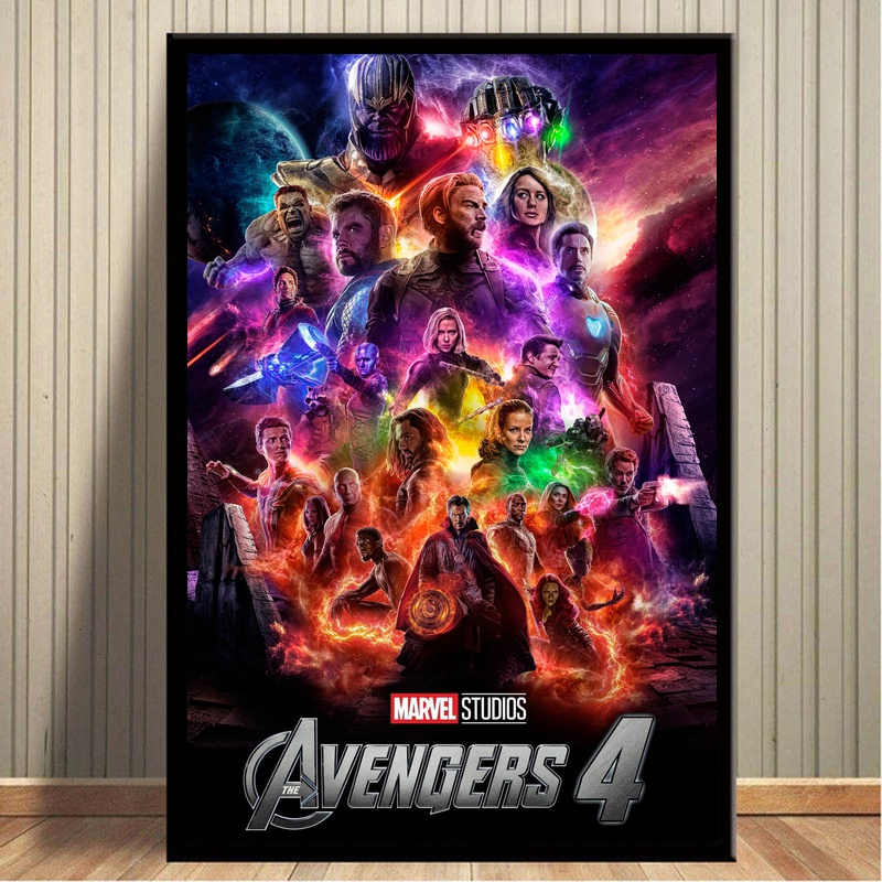 Avengers Endgame Movie Poster Canvas Print Poster Home Decor Wall Art Pictures No Frame hearth