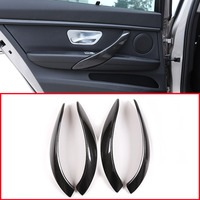 Real Carbon fiber For BMW F30 3 Series 2013 2019 Car Interior Door Handle Trim Accessories 4pcs