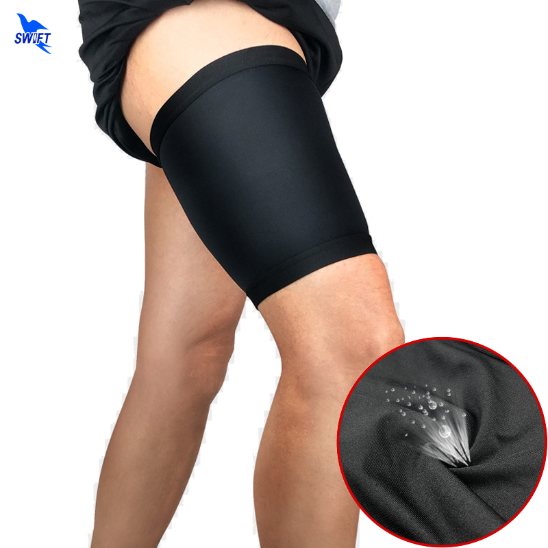 2PCS Outdoor Sport Leg Sleeve Support Brace Hamstring Groin Compression Thigh Wrap Basketball Stretch Quick Dry Thigh Protection image