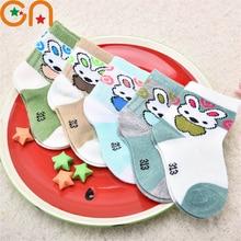 5 pairs/lot Baby Cotton Socks Children fashion Rabbit pattern socks Boy Girl toddler Breathable socks Spring summer New Kids CN