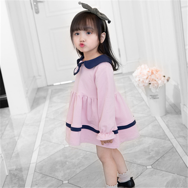 New children 39 s clothing girls princess lapel knee long sleeve spring dress kids dresses for girls in Dresses from Mother amp Kids