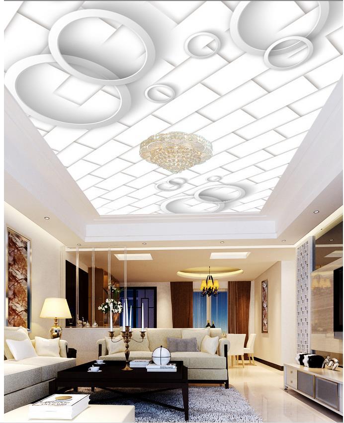 carreaux de plafond de mode personnalis 3d mural papier peint tv toile de fond plafonds 3d. Black Bedroom Furniture Sets. Home Design Ideas