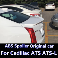 For Cadillac ATS L D3 Spoiler high quality ABS Material Car Rear Wing unpaint Color Rear Spoiler For ATS Spoiler 2013 2016
