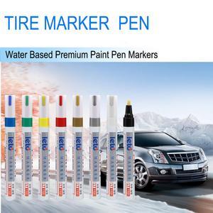 Image 1 - أقلام تحديد طلاء المعجون للجسم قلم دائم مضاد للماء مناسب للسيارة دراجة نارية إطار فقي من المطاط المعدني Caneta Risco Carro