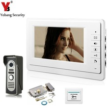 YobangSecurity 7 Inch Video Door Entry System Home Security Camera Video Door Intercom 1-camera 1-monitor With Door Lock