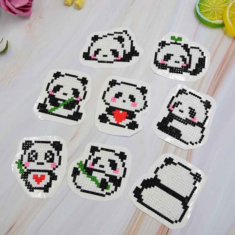 8 шт. DIY панда Вышивка крестом картины алмаз комплект Двойной сторонний стикер