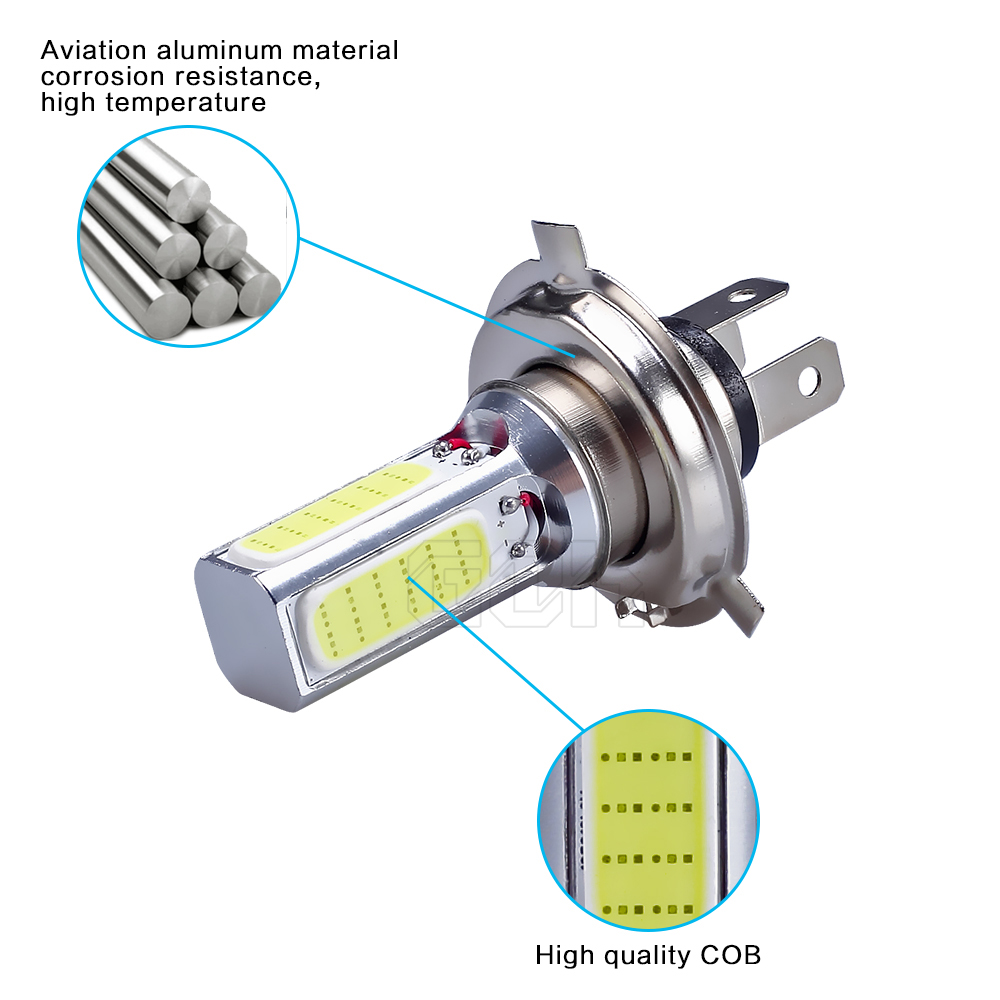 50X Автомобильный светодиодный светильник H4 светодиодный COB дневные ходовые Фары h4 h11 h7 9006 противотуманная фара белый свет Автомобильный суперъяркий авто-Стайлинг