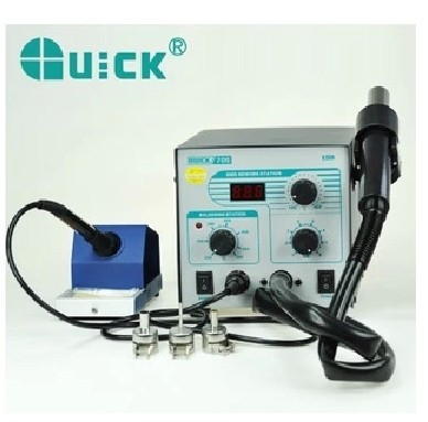 Genuine original crack QUICK706 Digital Combo duplex anti static soldering iron hot air gun soldering station