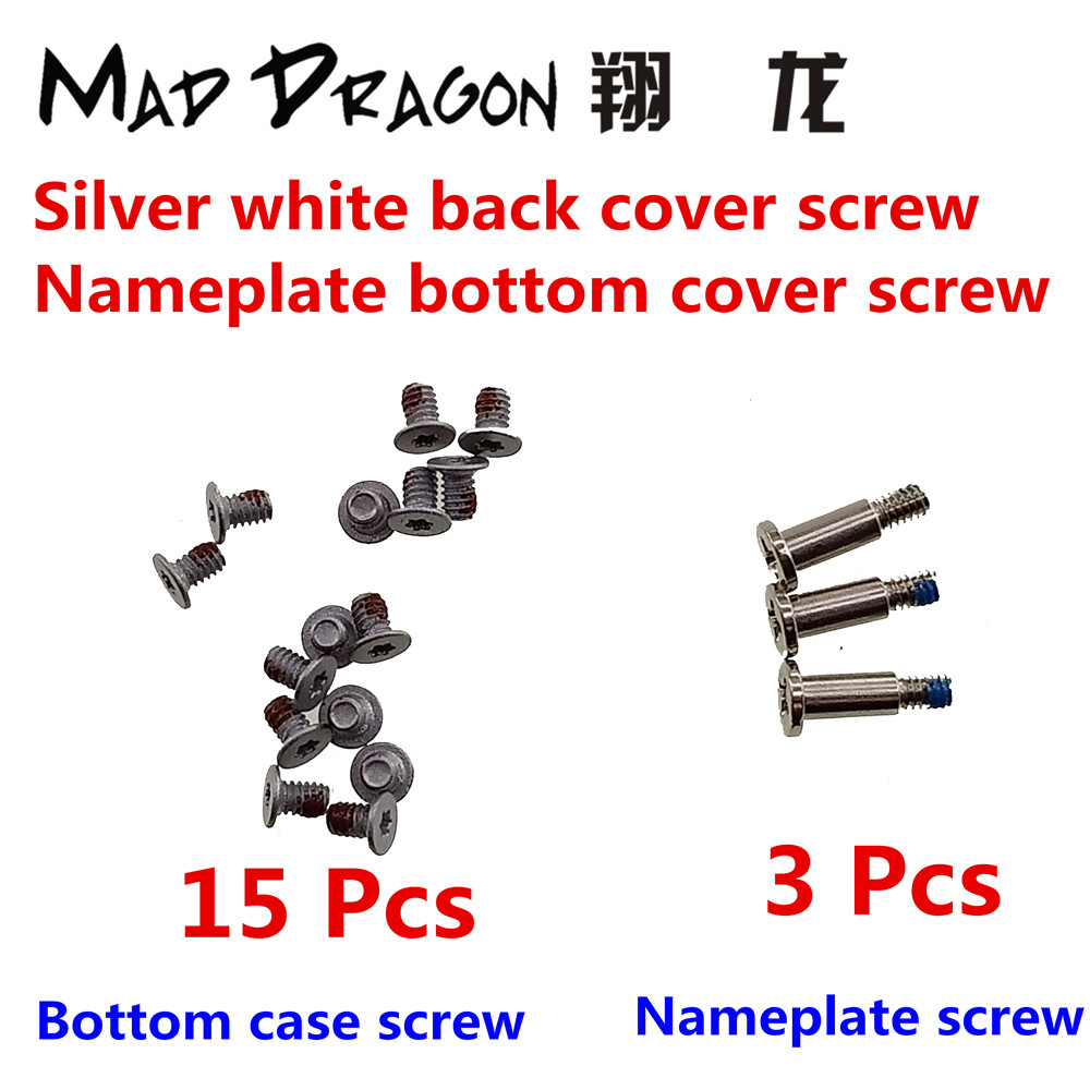 US $7 0 |15 lower cover screws / 3 nameplate screws for Dell XPS 13 9370  9375 XPS 15 9570 9575 / Precision 5530 M5530 silver white screws-in Laptop