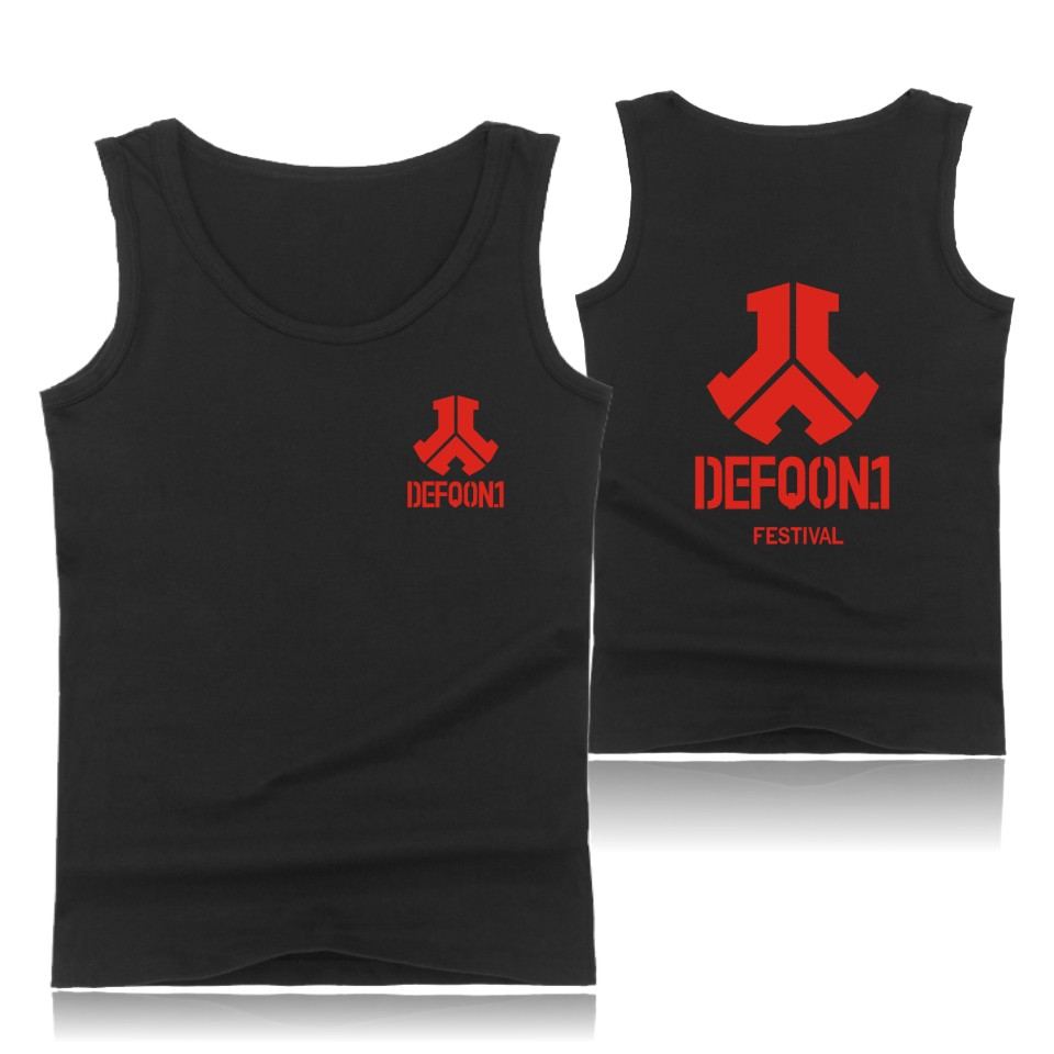 Defqon 1 T-shirts Plus Size Tank Top Men Sleeveless Tops and Anime Sugar Life Street Wear Style Shirts Summer Vests Defqon 1