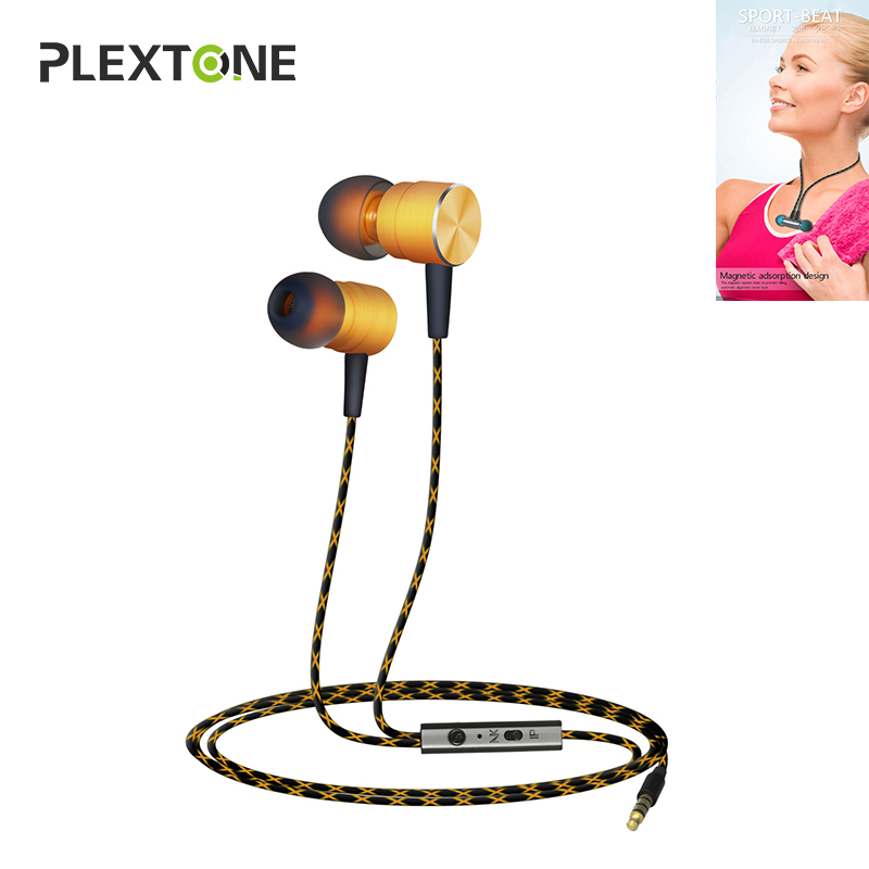 Plextone Earphone Kulaklik Earbuds Ecouteur Handsfree Ear Phones Audifonos For Iphone 7 8 Xiaomi Samsung Huawei Metal Magnetic plextone g20 gaming earphone in ear magnetic stereo earbuds computer headphone with microphone headset for xiaomi samsung phones