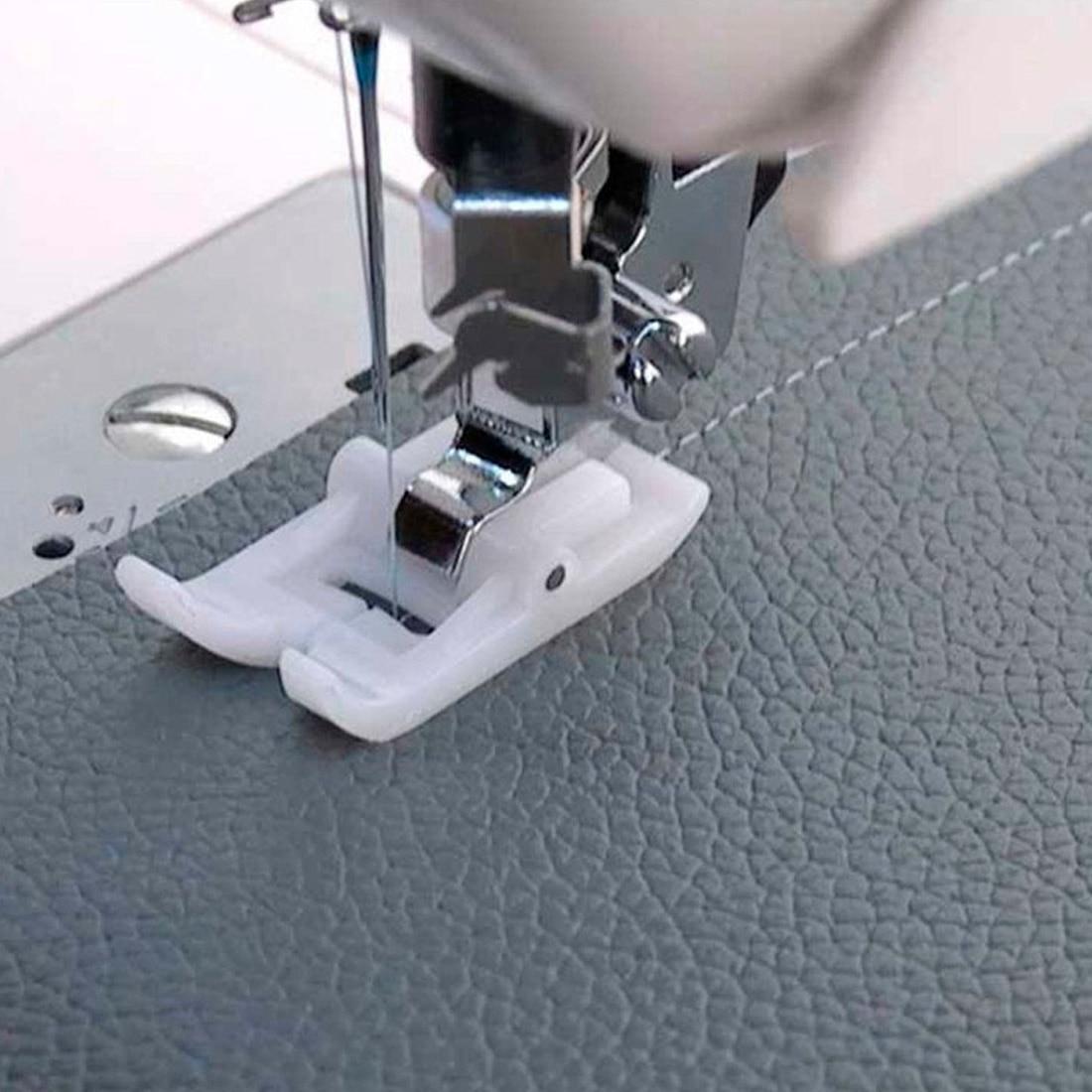 Лапка прижимная лапка для шитья под кожу, белая антипригарная лапка для ног, аксессуары для домашней швейной машины