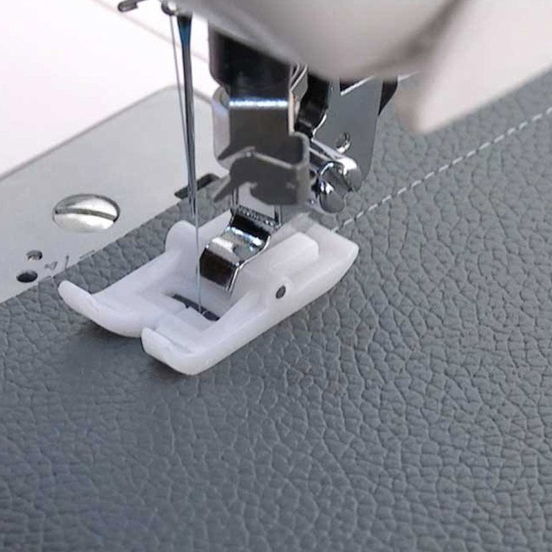 Foot Snap On Sewing Presser Foot Leather Pressure Foot White Non-stick Pressure Foot Home Sewing Machine Accessories