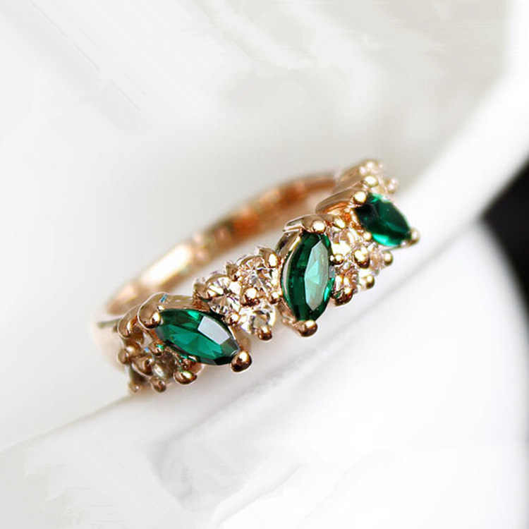 fashion Rings Wholesale Cute Vintage Crystal Ring For Women Fancy Jewelry Retro Feel Sweet Female  Angel Rings