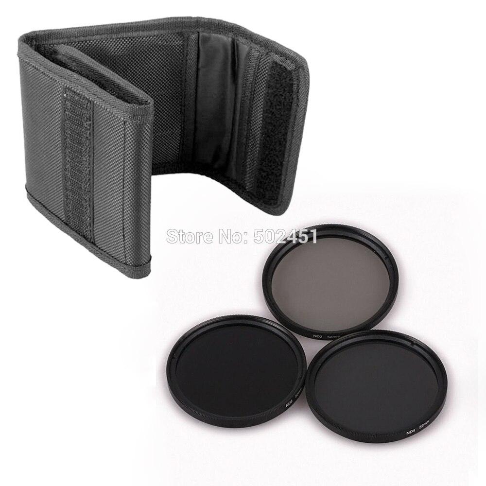 3 шт. 82 мм Нейтральной Плотности ND2 ND4 ND8 Объектив Комплект Фильтров Установлен ND + 2 + 4 + 8 + Ткань Сумка Чехол Для Canon Nikon Sony Объектива Камеры + оптовая