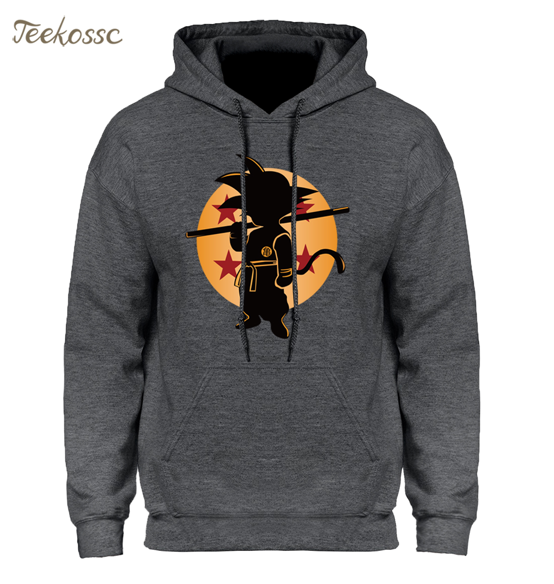 Dragon Ball Z Pocket Hoodie Men Japan Anime Hoodies Mens DragonBall Hooded Sweatshirt 2018 Winter Pullover Long Sleeve Outerwear