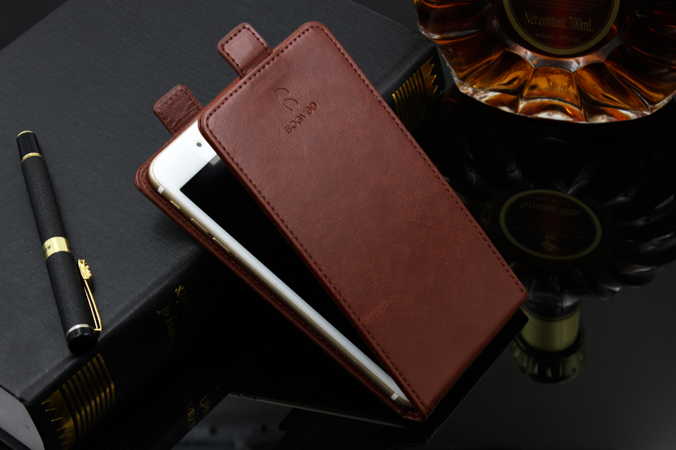 Up and Down Luxury PU Leather Flip Cover with Card Slot Case Fundas Coque Cover for iPhone 7 7 Plus Phone Cases