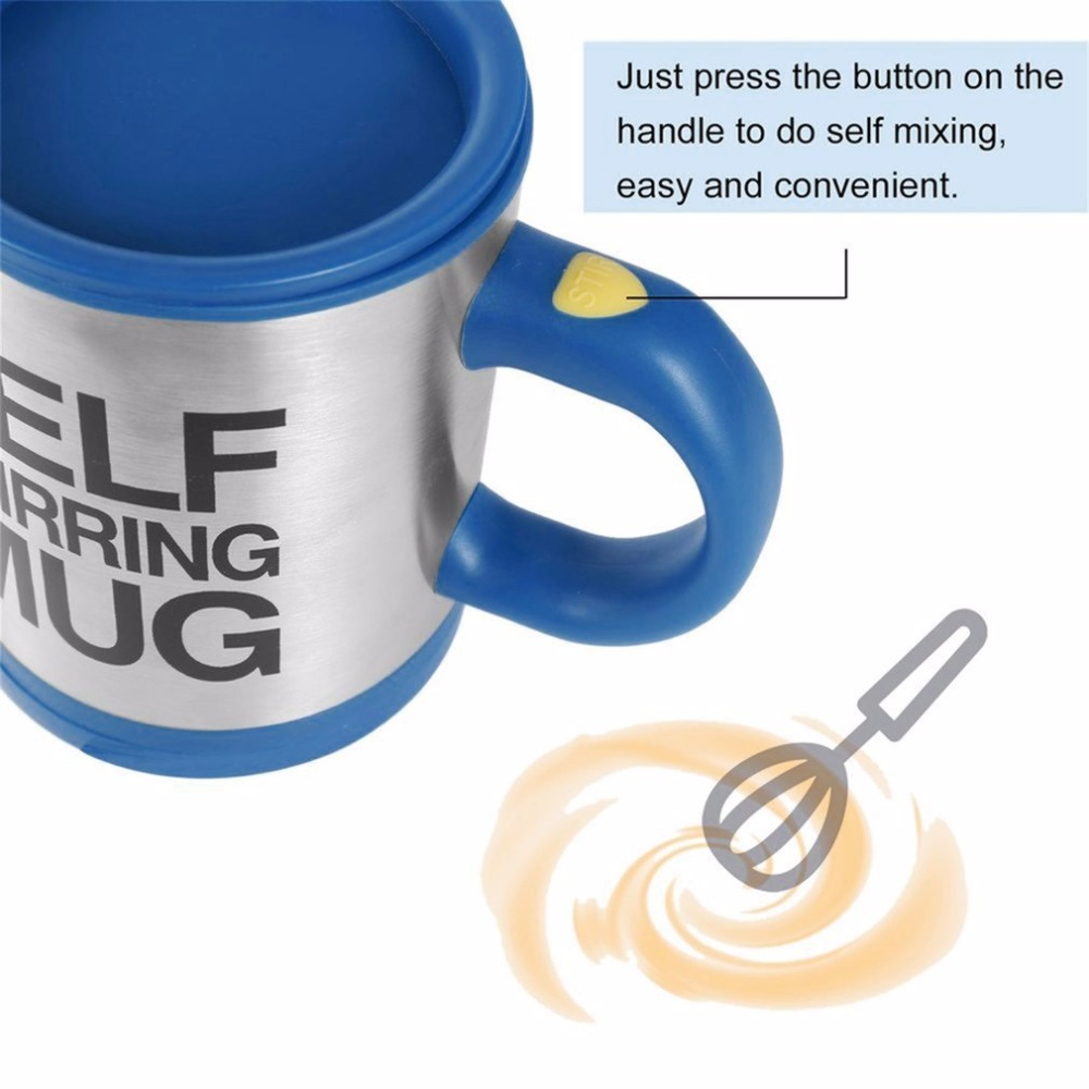 OUTAD Hot Sale 5 colors Stainless Steel Lazy Self Stirring Mug Auto Mixing Tea Milk Coffee Cup Office Home Gift