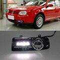 Carro kit para Volkswagen Golf 4 1998-2005 LED DRL Luz de Circulação Diurna bar com luz de nevoeiro auto lâmpada de Luz para o carro levou luz drl