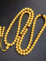 Wholesale Natural Baltic Yolk yellow Old Amber 108 Prayer Beads 6mm+ Round Buddhist Mala Certificated Amber Supplier Prayer