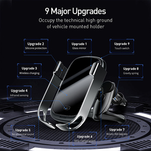 Image 5 - Baseus Wireless Car Charger For iPhone 11 Xs Max Xr 8 Plus 10W Fast Wireless Charger Holder Car Phone Charger For Huawei P30 Pro