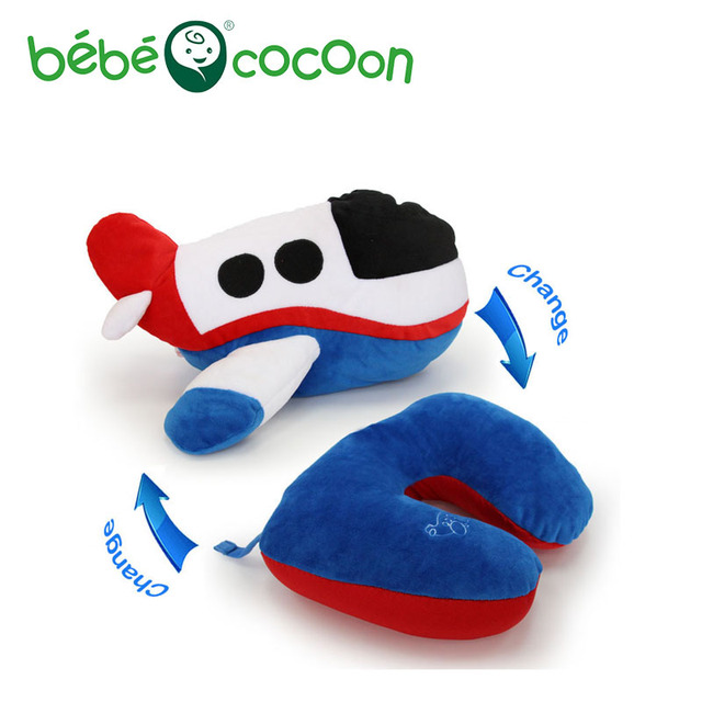 Bebecocoon Kawaii Decorative Pillows Airplane Convertible Ushaped Neck Pillow Stuffed Plush Toy Multifunctional Travel Pillow