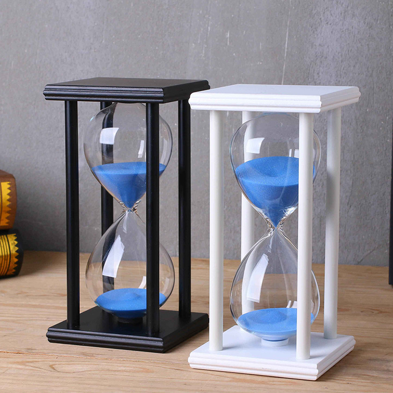 15 minute and 30 minute glass crystal sand glass Creative living room crafts hourglass Sandy clock decoration timing decoration ...