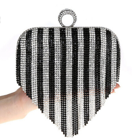 borla Rhinestone anillo bolsos de tarde mujeres bolsos de tarde de la boda del
