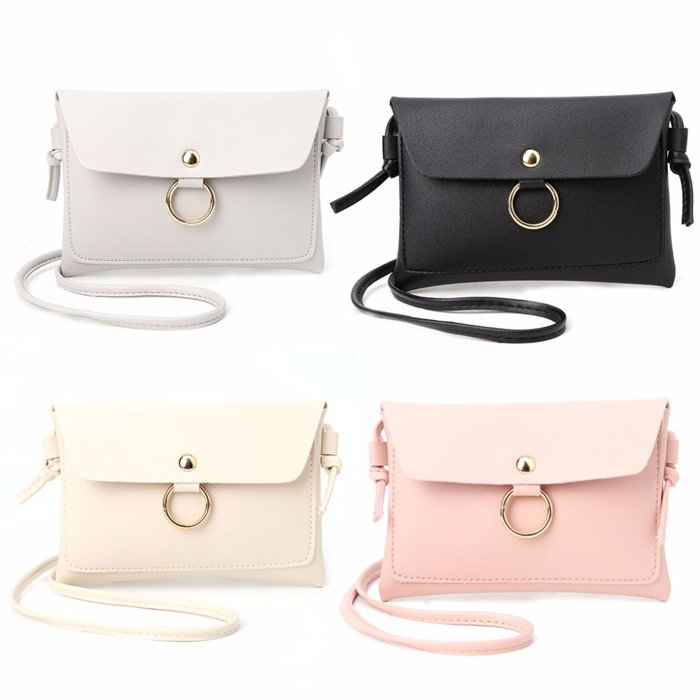 Women Leather Handbag Lady Girl Shoulder Bag Mini Crossbody Messenger THINKTHENDO Envelope Bag 1 PC Fashion Purse Tote 4 Color new fashion women girl student fresh patent leather messenger satchel crossbody shoulder bag handbag floral cover soft specail