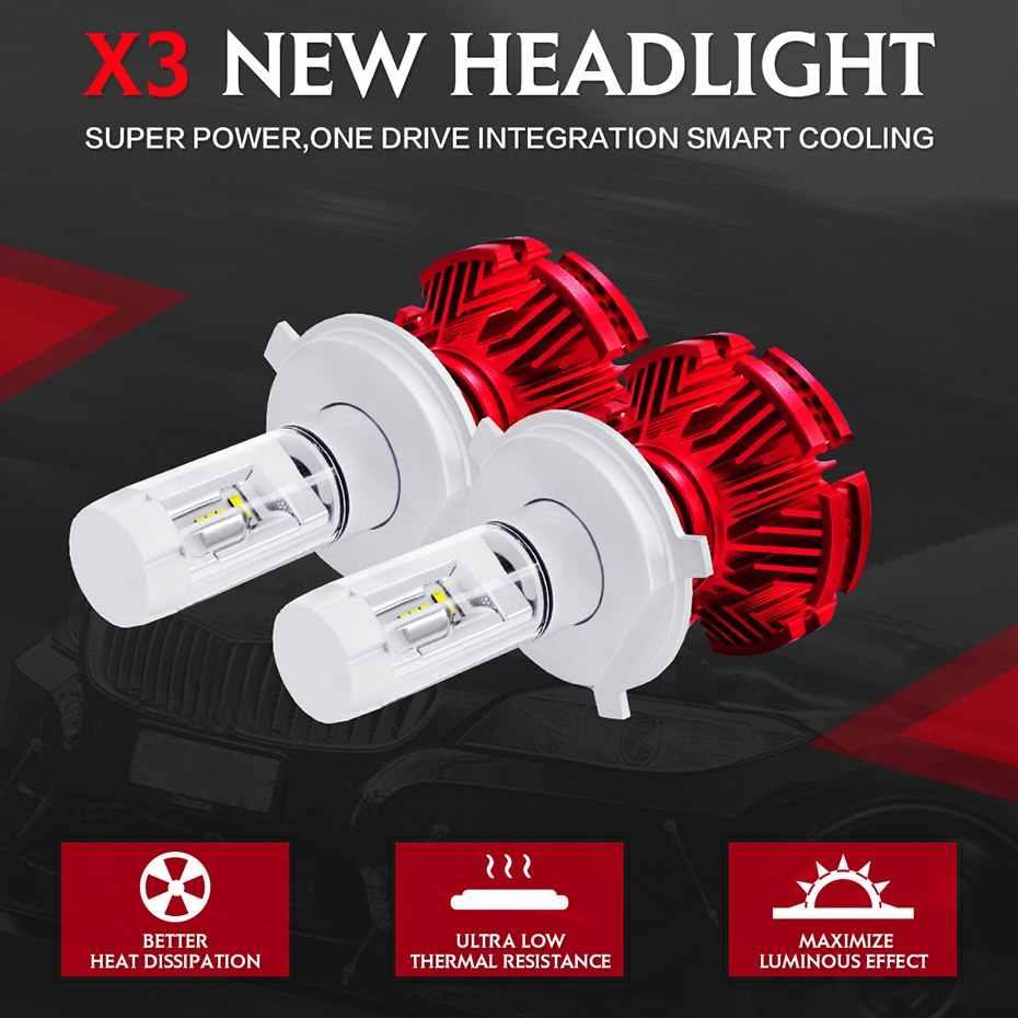 JGAUT 100 шт. Доставка компанией DHL EMS FEDEX оптовая продажа X3 H7 Led H4 16000lm Автомобильные фары лампочки H1 H3 H11 9005 9006 автомобилей