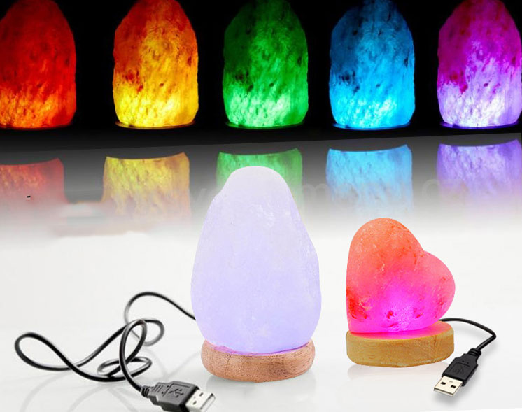 Multiple shapes Hand Carved USB Wooden Base Himalayan Crystal Rock Salt Lamp Air Purifier Night Light beautiful night lamp triangle hand carved usb wooden base himalayan crystal rock salt lamp air purifier night light