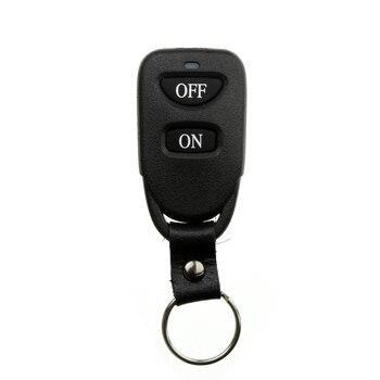 Xuanlongyuan hebilla de cuero negro en 2 CH 2CH TRANSMISOR DE RF de Control remoto inalámbrico, 315/433. 92 MHZ/lámpara/puerta de garaje/persianas