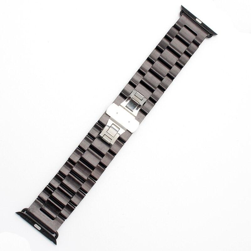 Uus puidust käevõru 22mm 24mm iwatch riba 38mm 42mm kvaliteediga - Kellade tarvikud - Foto 3