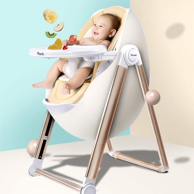 high chair egg dining seat covers dunelm portable highchair luxury baby feeding in
