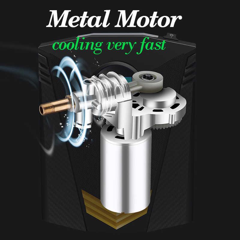منفاخ إطارات رقمي DC 12 فولت سيارة ضاغط هواء محمول مضخة 150 PSI ضاغط هواء للسيارة للسيارات للسيارات الدراجات النارية الدراجات