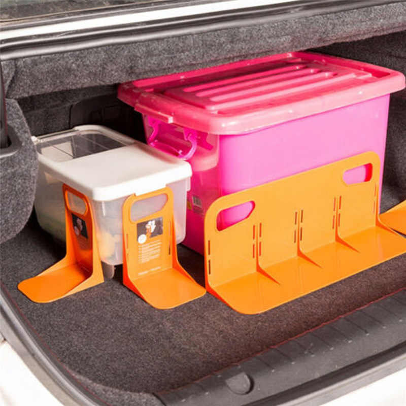 Car Trunk Storage Baffle Multifunction Storage Box Fixed Holder Stand PP Handle Stuff Storage Protection Stayhold for Drink Food