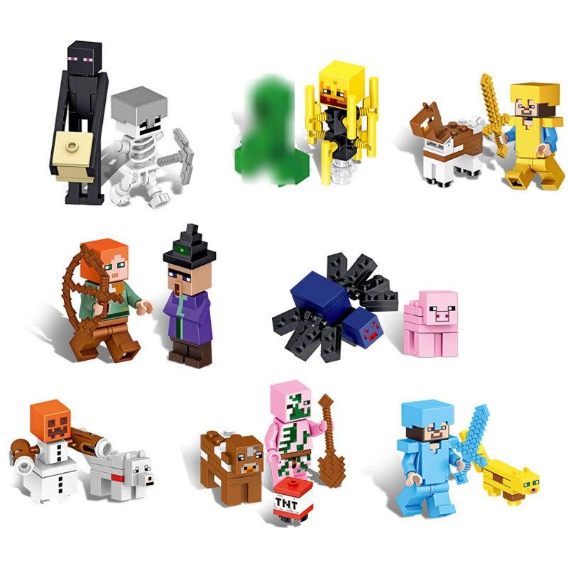 GroßZüGig Großhandel 170 Teile/los Mini Minecrafted Bausteine Kompatibel Bricks Set Pädagogisches Spielzeug Für Kinder Geschenk
