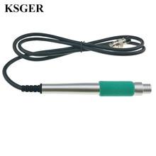 KSGER STM32 OLED elektronik aletler T12 lehimleme istasyonu alüminyum alaşım kolu kaynak İpuçları sıcaklık kontrol tamir