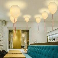 Creative white glass balloon ceiling light led E27 children's room living room bedroom Balloon ceiling lamp Kid's Present