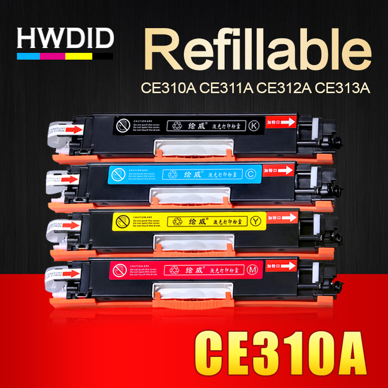 HWDID 1Set CE310 CE310A -313A 126A/a 126 Compatible Toner Cartridge For HP LaserJet Pro CP1025 M275 MFP M175a M175nw Printer