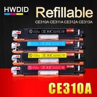 HWDID 1Set CE310 CE310A 313A 126A/a 126 Compatible Toner Cartridge for HP LaserJet Pro CP1025 M275 MFP M175a M175nw Printer