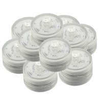 Set of 24 Submersible Waterproof Wedding Underwater Tea Light Sub LED Light for Decoration Wedding Party Bar etc.*White*