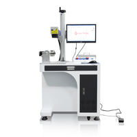 20W Gold Silver Metal Fiber Laser Marking Machine with Rotary Device
