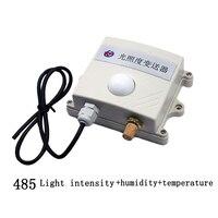 Frete grátis 0 65535lux 3in1 sensor de intensidade de luz/rs485 modbus protocolo temperatura e umidade transmissor sensor para|temperature and humidity transmitter|light intensity sensor|humidity transmitter -