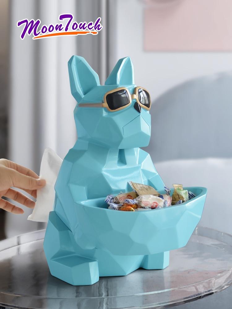 Droit nordique bureau boîte à mouchoirs boîte de rangement chiot forme créative salon Table basse Restaurant serviette plateau mignon Simple Style