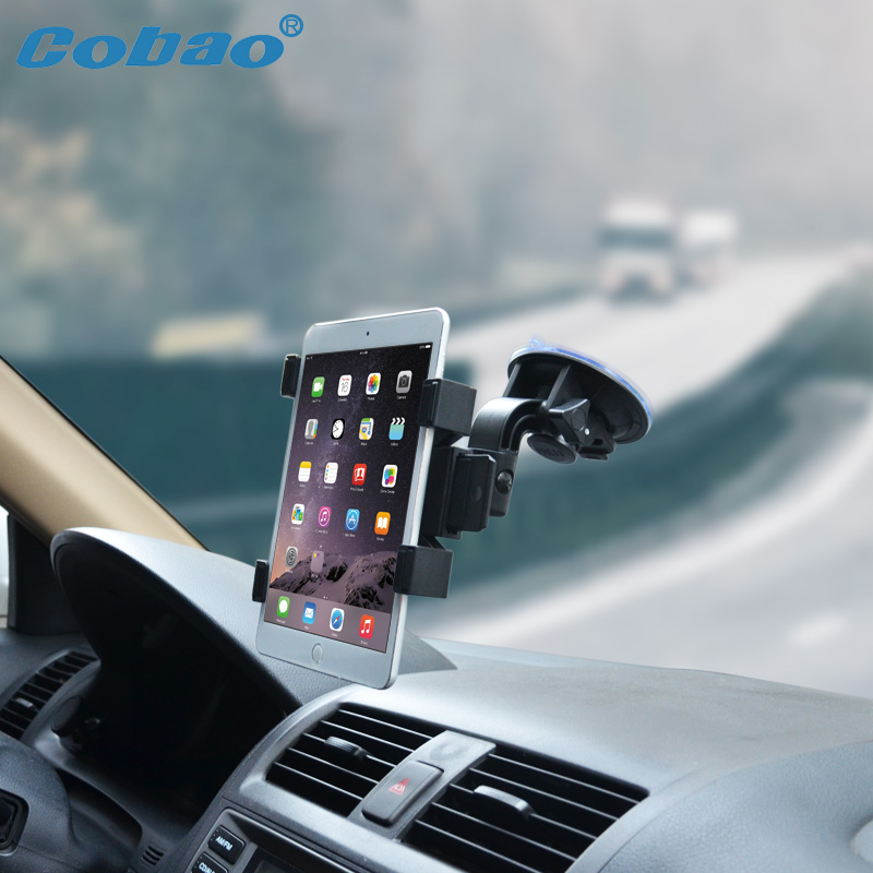 Cobao universal tablet accessories 7 8 7.9 9 10 11 inch tablet holder car windshield tablet PC stand for Ipad mini air samsung