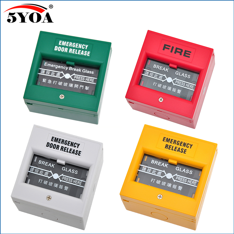 5YOA Emergency Door Release Fire Alarm swtich Break Glass Exit Release Switch Glass Break Alarm Button накладной светильник toplight rosamond tl9421y 01wh