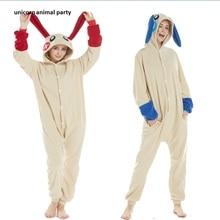 Kigurumi Adult Cartoon Animal Green Antelope Onesies Unisex shark rabbit Pikachu Pajamas Cosplay Costumes Sleepsuit Sleepwear